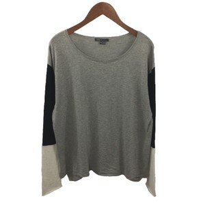 Vince Color-blocking Cotton Casual Fall Sweater