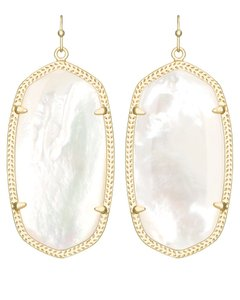 Kendra Scott NEW Kendra Scott Elle Gold Mother of Pearl Shell Drop Earrings
