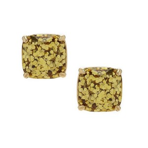 Kate Spade Kate Spade Gold Glitter Gumdrop Earrings Studs