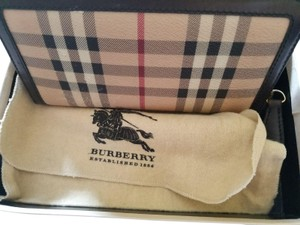 Burberry London Wristlet in checkered as posted
