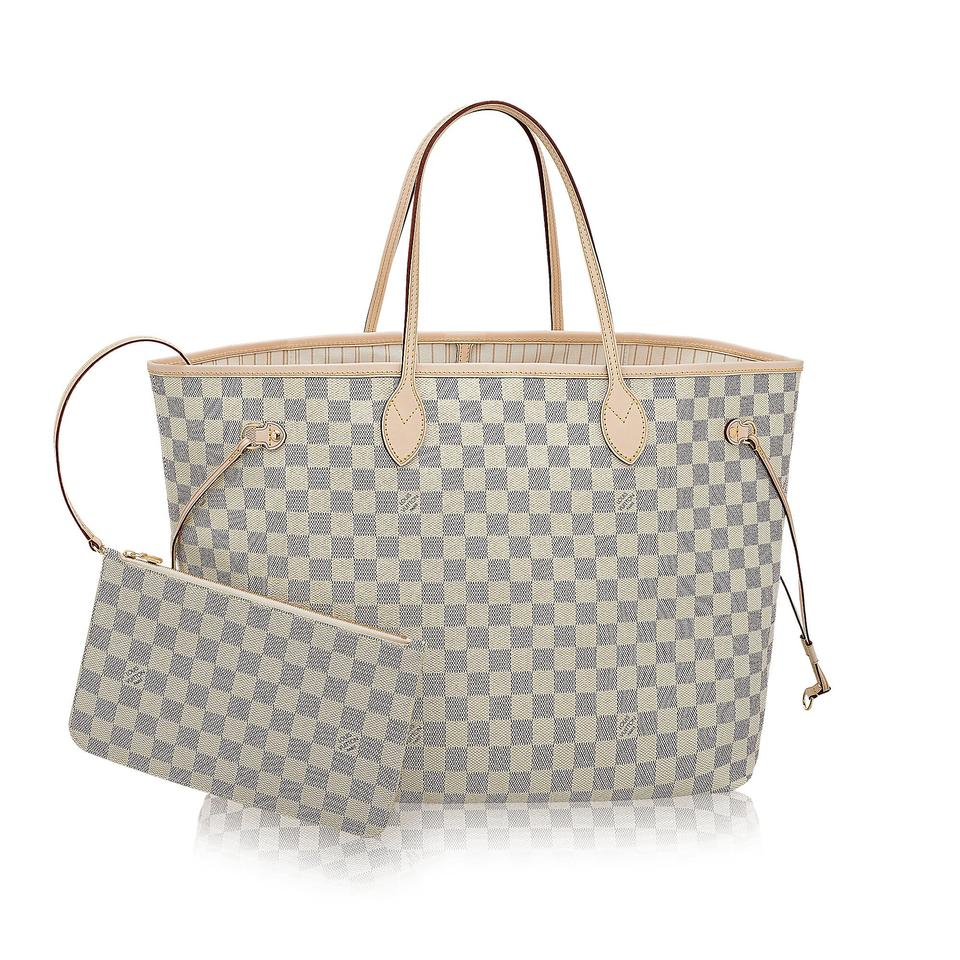 louis vuitton made in france damier azur canvas neverfull gm monogram tote tradesy. Black Bedroom Furniture Sets. Home Design Ideas