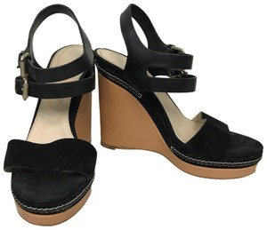 Chlo Chloe Black Platform Wedges