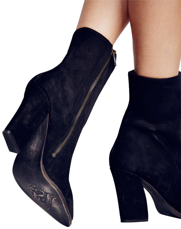 e70bb41e13bd9 Free People Black Suede Mystic Charms Boots/Booties. Size: US 8 ...