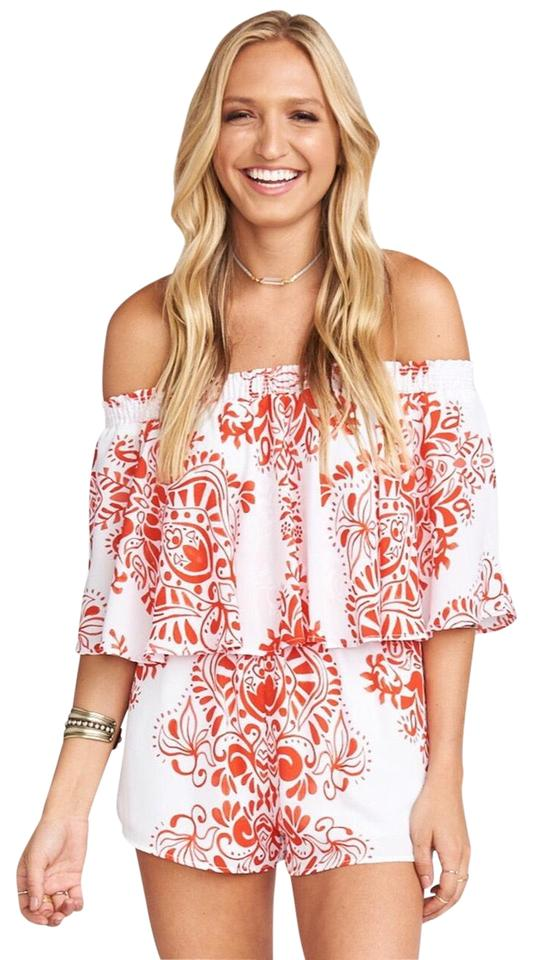 187242d5501 Show Me Your Mumu Red and White Rosarita Romper Jumpsuit - Tradesy