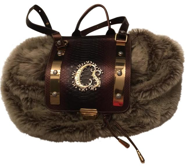 Item - Rare Brown and Beige Faux Fur Backpack