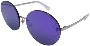 Chanel Chanel Purple Mirror Round Quilting Sunglasses 4216 c.124/4V 58