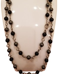 David Yurman David Yurman Onyx Hematite long 40 inch Necklace