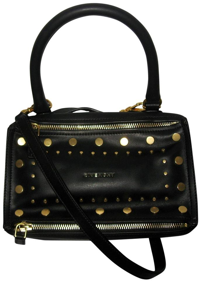 Givenchy Pandora Small Studded Black Calfskin Leather Cross Body Bag ... 13a3e202a4c63