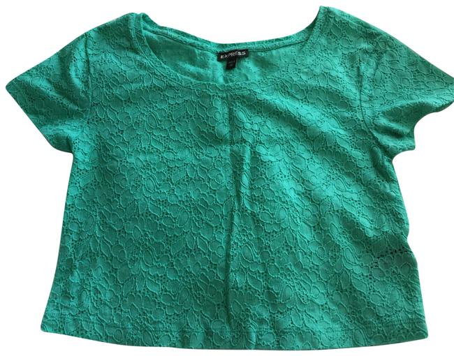 Item - Mint Green Lace Cropped Tee Shirt Size 0 (XS)