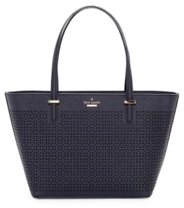 Kate Spade Mini Harmoney Perfulated Leather Sholder Tote in Offshore