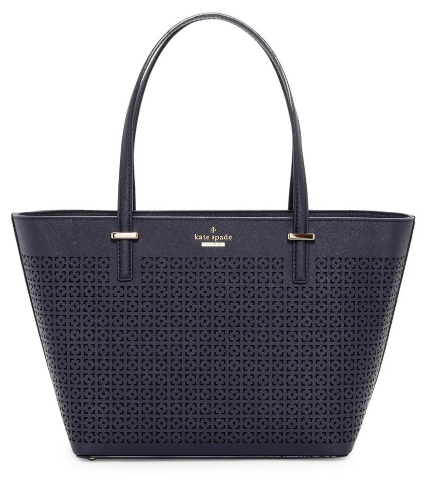 384ef43c0bf3 Kate Spade Mini Harmoney Perfulated Leather Sholder Tote in Offshore Image  0 ...