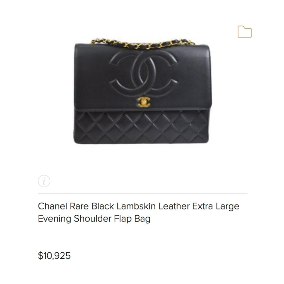 1579cd5a5a8f Chanel Classic Flap XL Maxi Jumbo Quilted Matelasse Large Cc Chain Black  Lambskin Leather Shoulder Bag - Tradesy