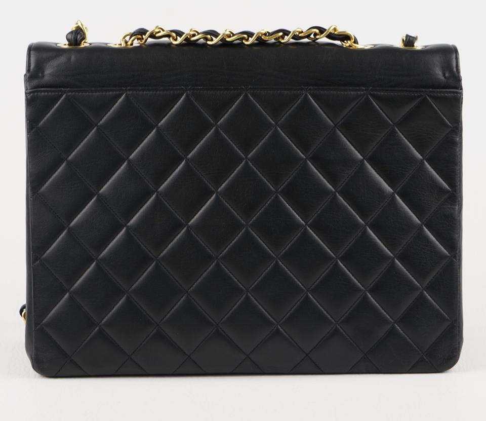 16636941bb51 Chanel Classic Flap XL Maxi Jumbo Quilted Matelasse Large Cc Chain Black  Lambskin Leather Shoulder Bag - Tradesy