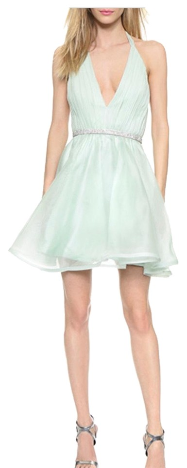 Alice + Olivia Mint Green Brookie Short Cocktail Dress Size 0 (XS ...