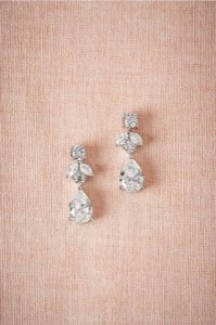 BHLDN Silver Crystal Petite Drop Earrings - item med img