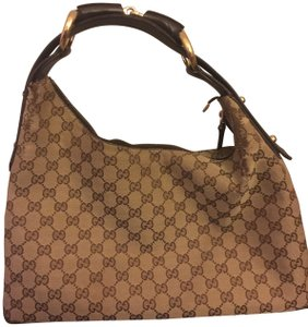 Gucci Horsebit Monogram Brown Canvas and Leather Hobo Bag - Tradesy e763bea4621fb
