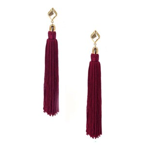 Ettika 18k Gold Plated Mon Cheri Tassel Earrings