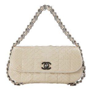 Chanel Mini Flap Micro-mini Cream Clutch