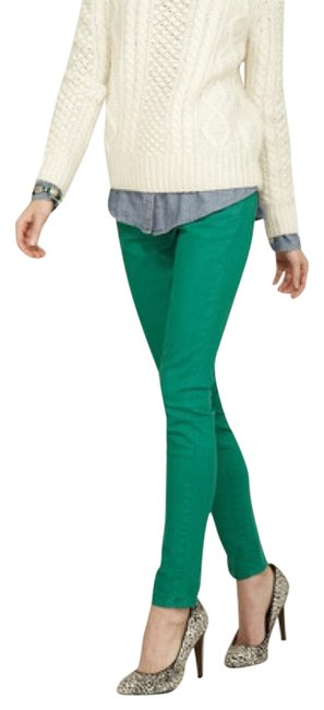 Item - Green Ankle Ultramarine Skinny Jeans Size 24 (0, XS)