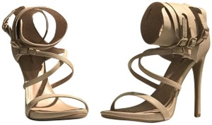 bebe Ankle Strap Strappy Date Night Brunch Nude Sandals