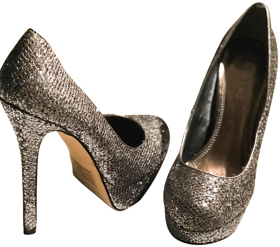 87f63e4639d Bakers Silver/Pewter Melinasg Sparkle Pumps Size US 7.5 Regular (M, B) 63%  off retail