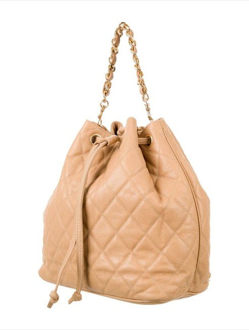 Item - Vintage Beige Caviar Leather Backpack