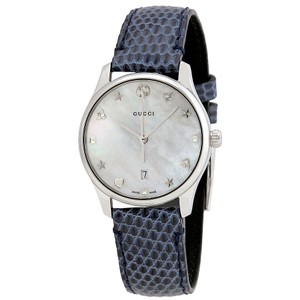 710782af5e77 Gucci Gucci G-Timeless Mother of Pearl Dial Ladies Leather Watch YA126588