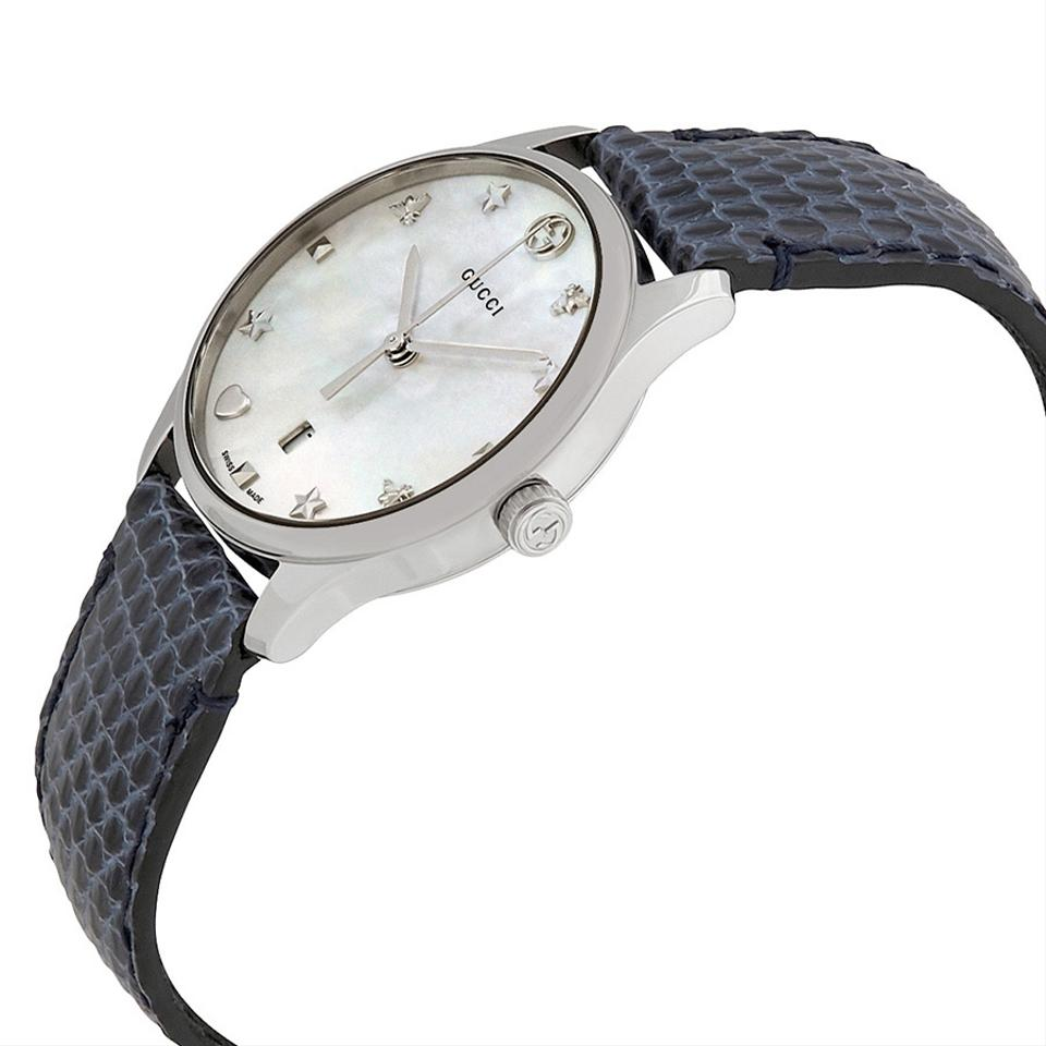 b3fc9a2b6869 Gucci G-timeless Mother Of Pearl Dial Ladies Leather Ya126588 Watch ...