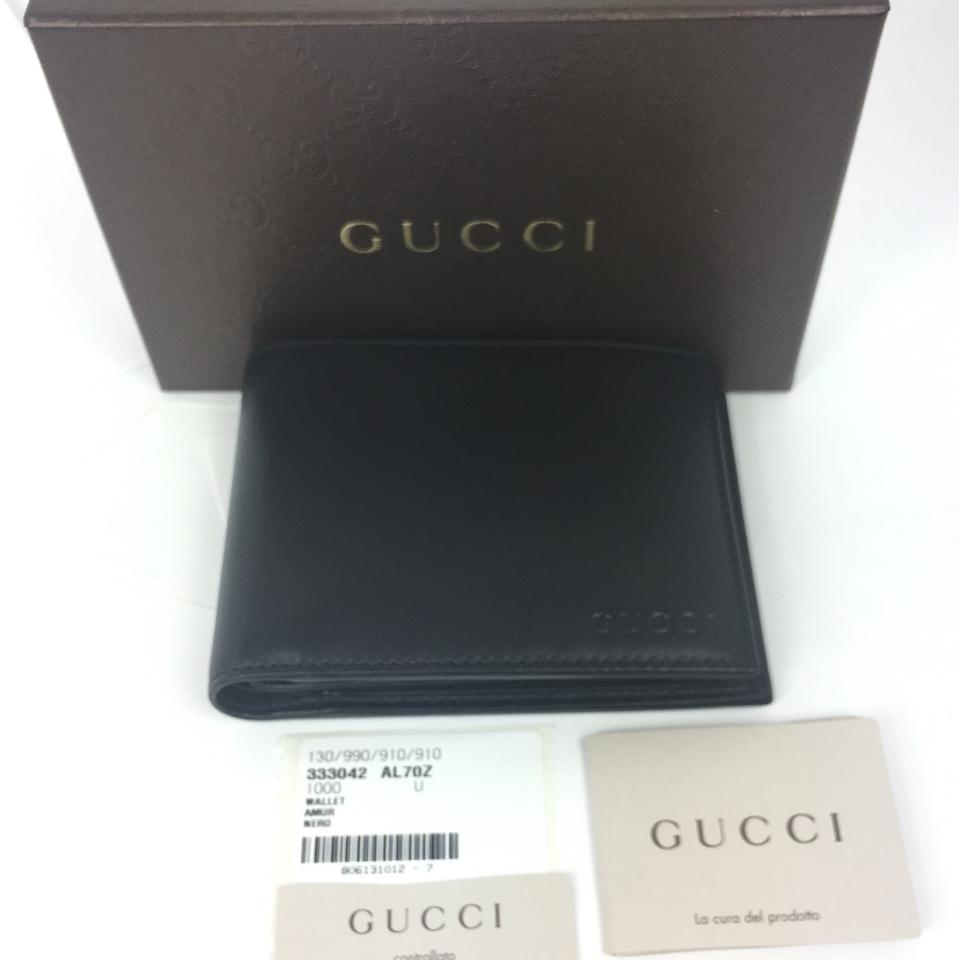 82e3d184ac8 Gucci Gucci Black Smooth Leather Wallet with ID Insert  333042 Image 7.  12345678