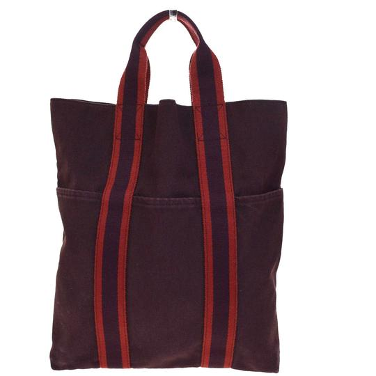 herm s bordeaux canvas hand bag tote tradesy. Black Bedroom Furniture Sets. Home Design Ideas