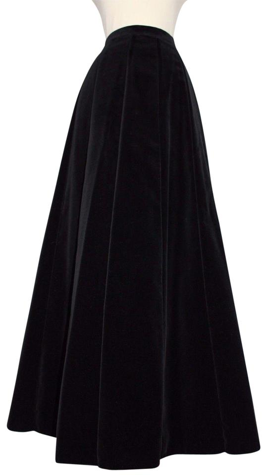 93ddc65538b Hammer Holiday Velvet Hostess High Waisted Maxi Skirt Black Image 0 ...