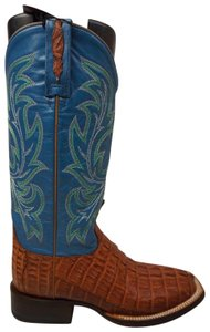 Lucchese Blue and Brown Boots