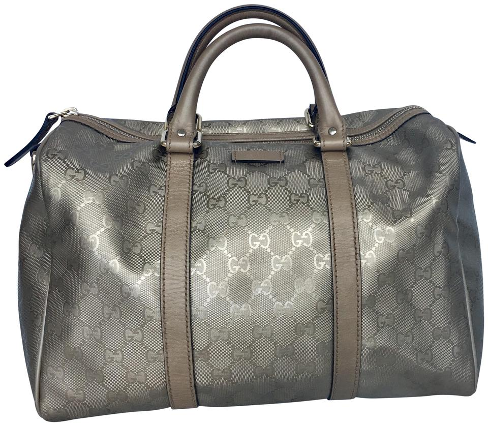 7989a12ac75 Gucci Limited Edition Boston Classic Leather Monogram Tote in Champagne  Image 0 ...