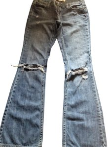Victoria's Secret Pink Destroyed Boot Cut Jeans-Distressed