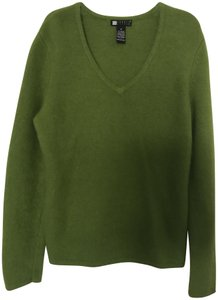 Carole Little Angora Vneck Long Sleeve Sweater