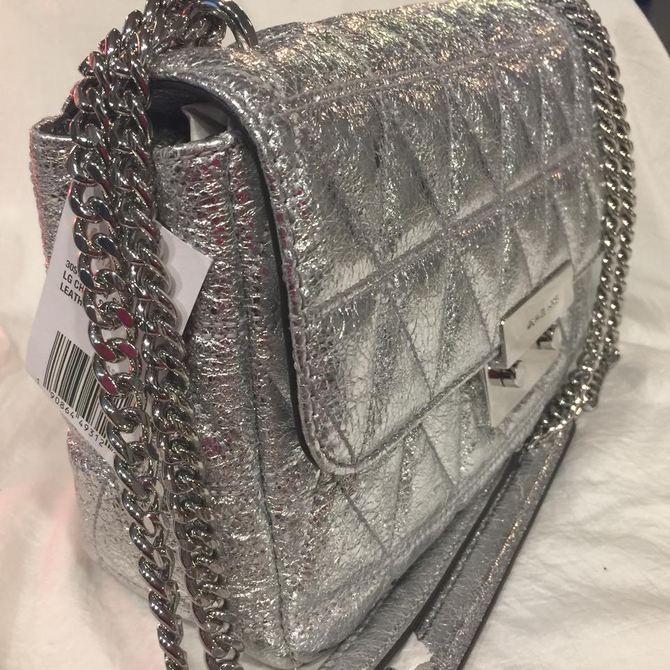981523a002ef Michael Kors Silver Leather  Lining  Polyester Hobo Bag - Tradesy