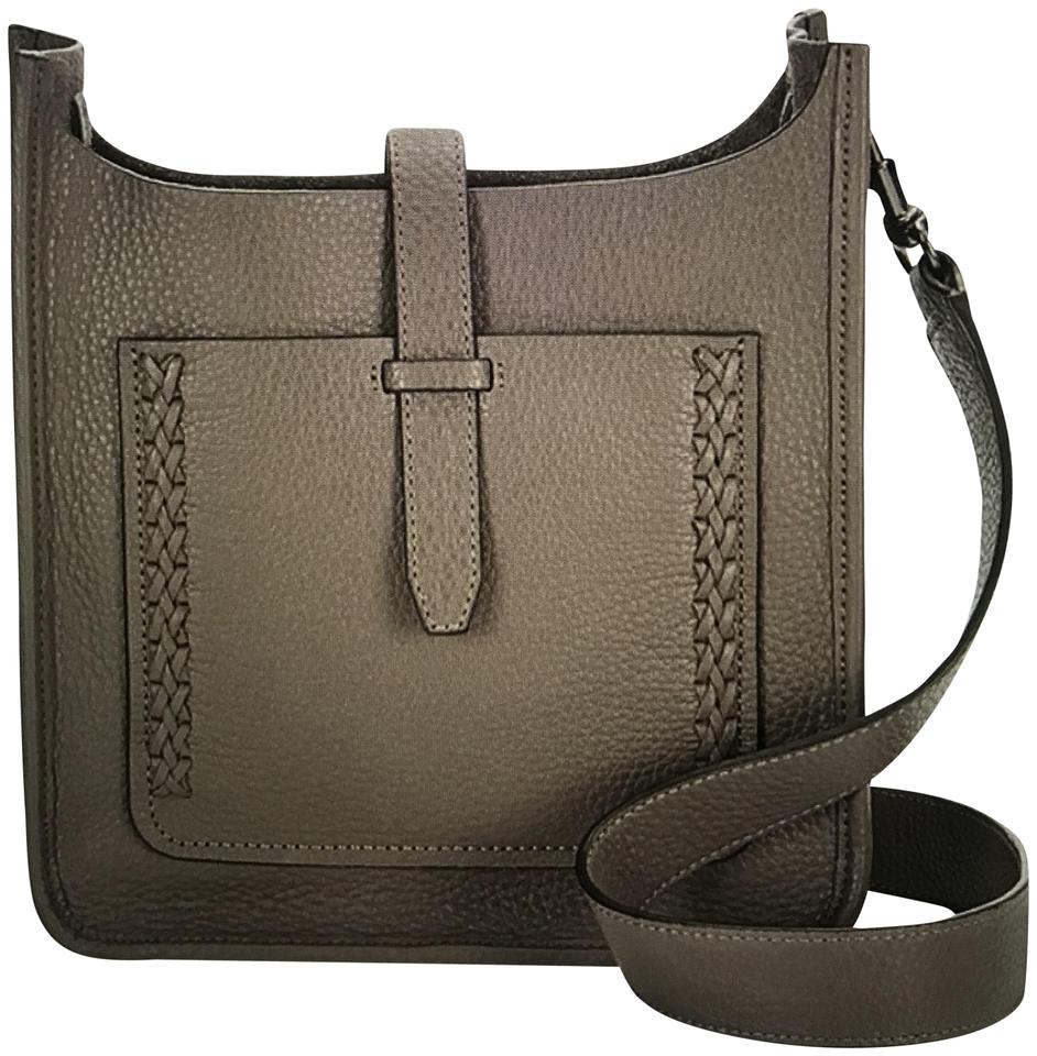 fd484dda01 Rebecca Minkoff Small Unlined Feed Graphite Leather Cross Body Bag ...