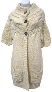 Free People Cable Knit Sweater Casual Warm Coat