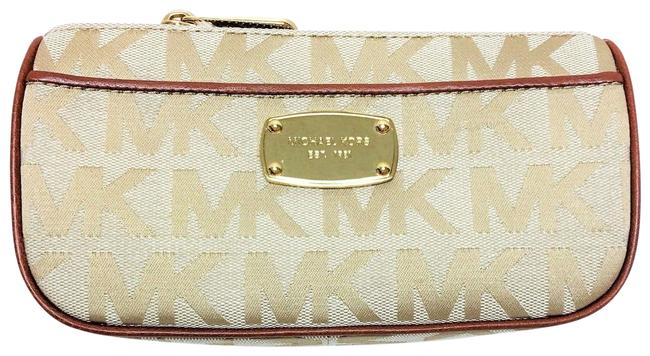 Item - Beige/Luggage/Camel New Abbey Jacquard Beige-camel-luggage Travel Pouch Cosmetic Bag
