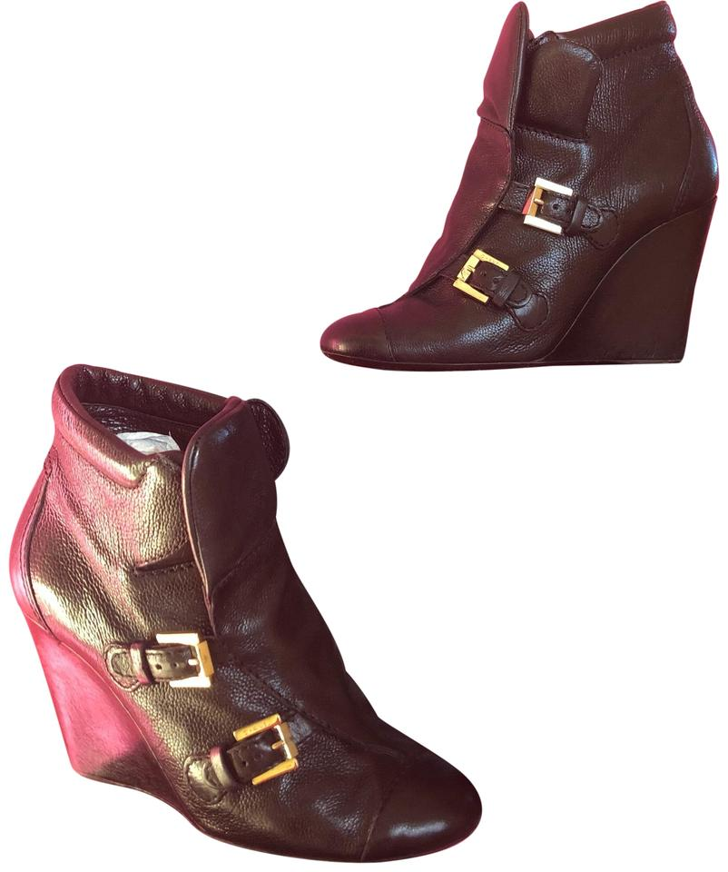 c18c7b4efbe Chanel Black Leather Wedge Designer Cc Boots Booties. Size  EU 39 (Approx.