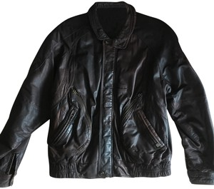 Angelo Litrico brown Leather Jacket