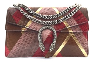 Gucci Python Dionysus Double Chain Cross Body Bag