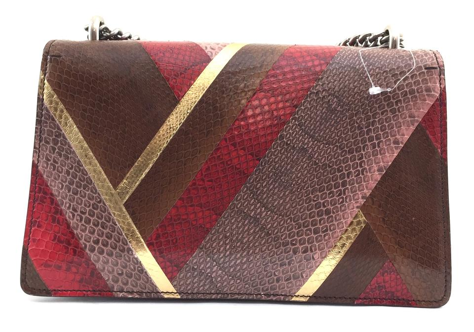 2faf725aa3 Gucci Python Dionysus Double Chain Cross Body Bag Image 11. 123456789101112