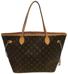 5ce46b667e39 Louis Vuitton Tote in brown. Louis Vuitton Neverfull Mm Monogram Rose  Ballerine ...