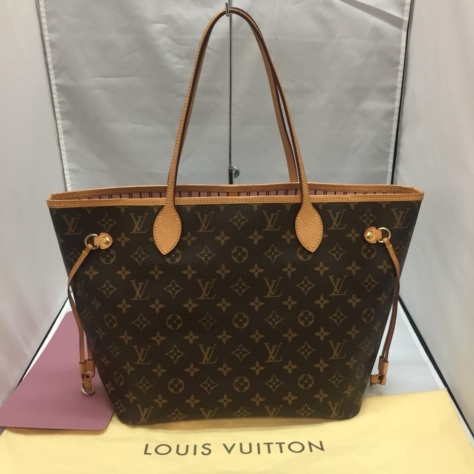 72565e0f87b5 Louis Vuitton Neverfull Mm Monogram Rose Ballerine with Base Shaper ...