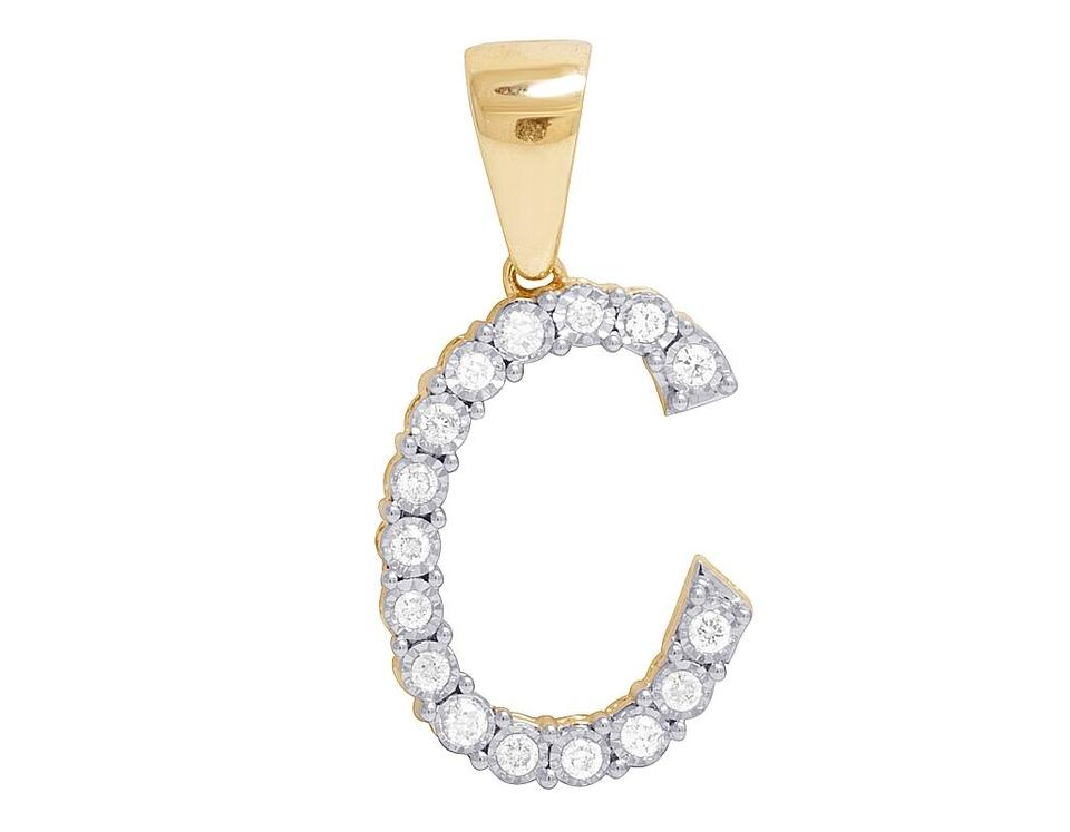 Jewelry unlimited 10k yellow gold diamond letter c initial pendant jewelry unlimited 10k yellow gold diamond letter c initial pendant 033 ct 11 aloadofball Image collections