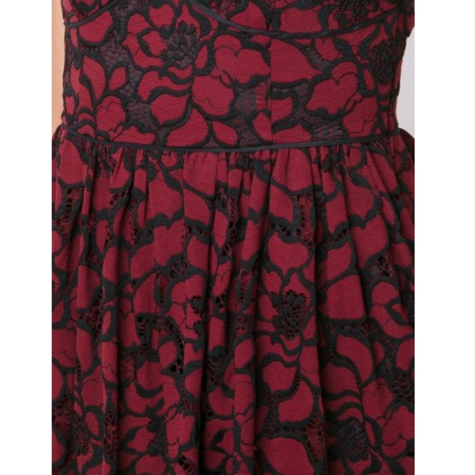 cff373b7d47 LIKELY Garnet Red   Black Chessington Lace Floral Cami Mid-length ...