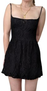 Blu Moon short dress Black lace , spaghetti straps, low cut back , side hidden zipper on Tradesy