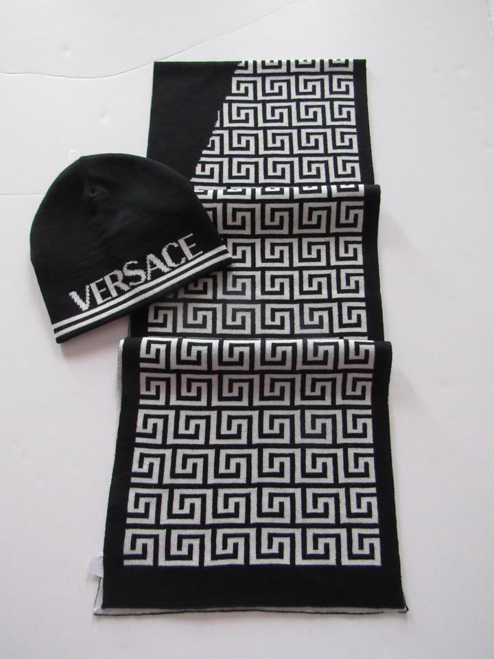 1c6cfcaf141 ... aliexpress versace black white unisex and scarf set black white hat  tradesy b0f05 2a6bf