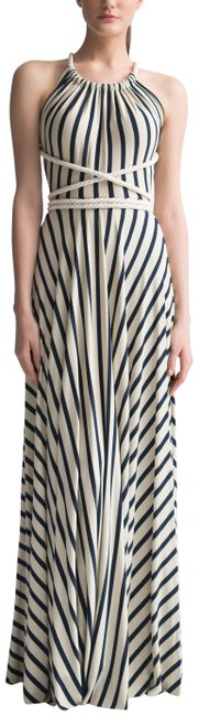 Preload https://item3.tradesy.com/images/blue-little-french-stripe-rope-halter-gown-long-casual-maxi-dress-size-4-s-22585452-0-2.jpg?width=400&height=650